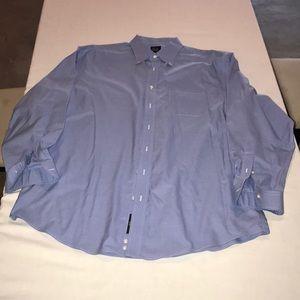 Jos A Bank blue men's dress shirt